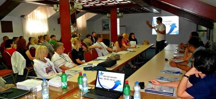 Opening of the training seminar for members of Croatian and Serbian network, Lake Palic, Serbia