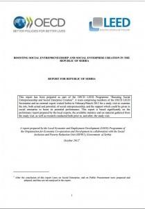 BOOSTING SOCIAL ENTREPRENEURSHIP AND SOCIAL ENTERPRISE CREATION IN THE REPUBLIC OF SERBIA